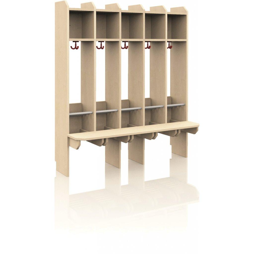 Kompaktní šatna pro 5 dětí, Art. 61445 E