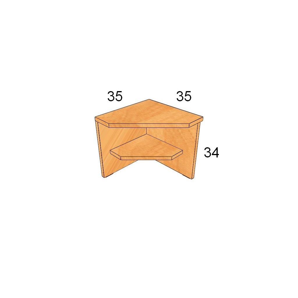 Lavička vnější roh Art. 60290