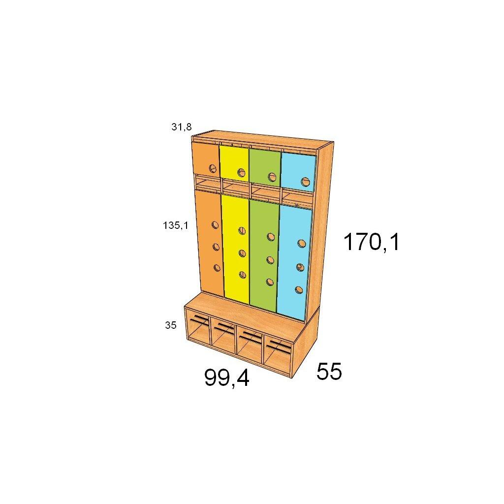 GMG 99,4 x 170 x 55 otvory