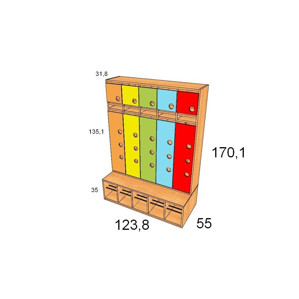 GMG 123,8 x 170 x 55 otvory