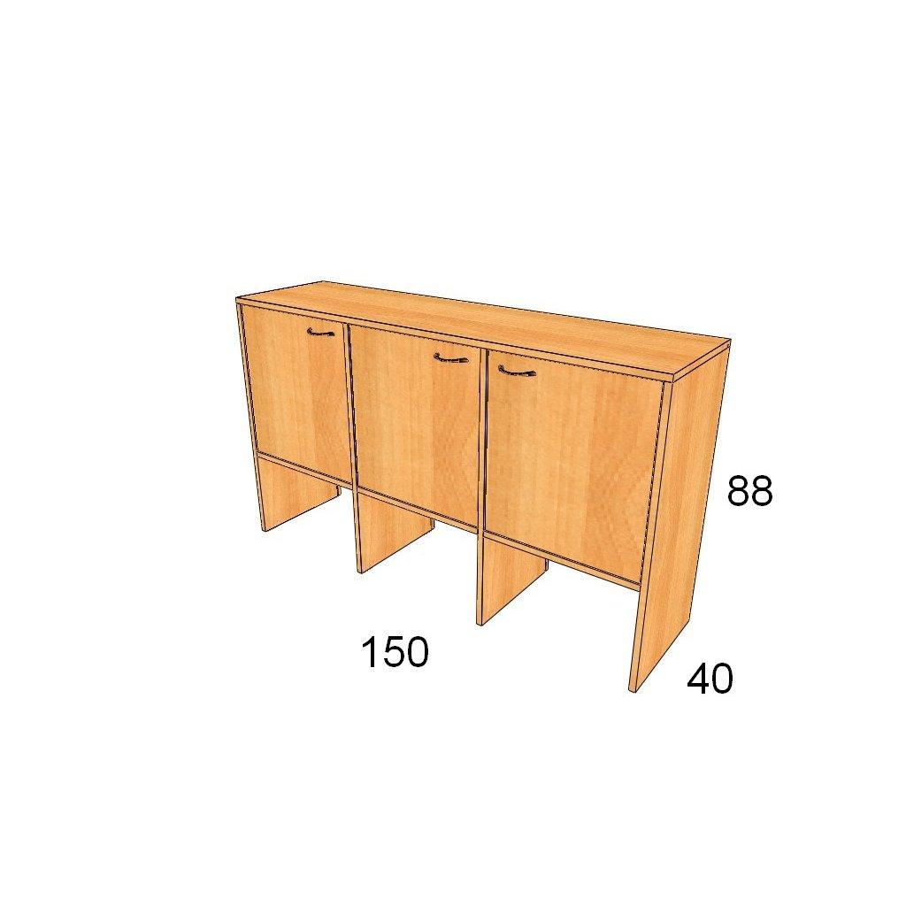 Dveřová skříň, Art.3015