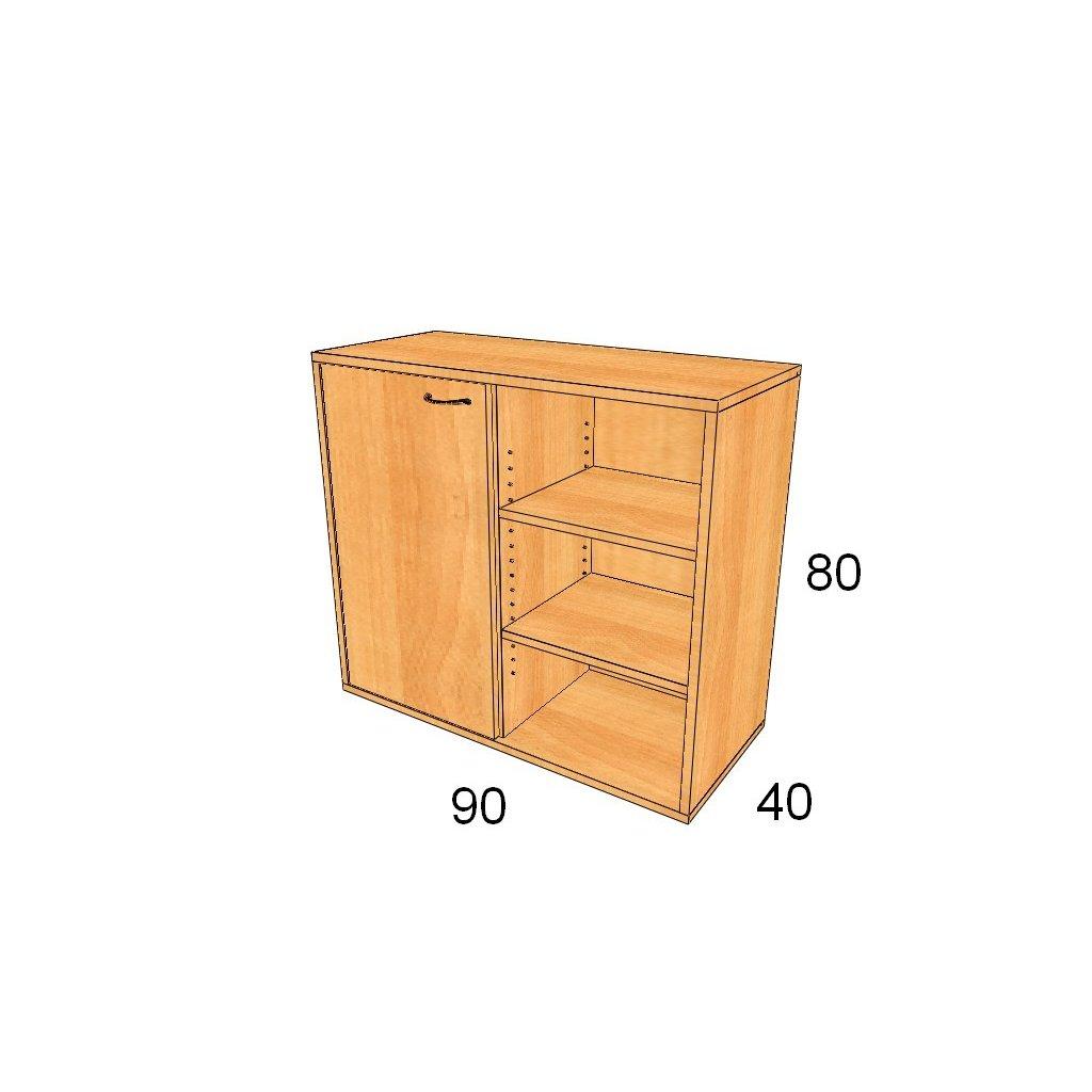 Dveřová skříň, Art.2308