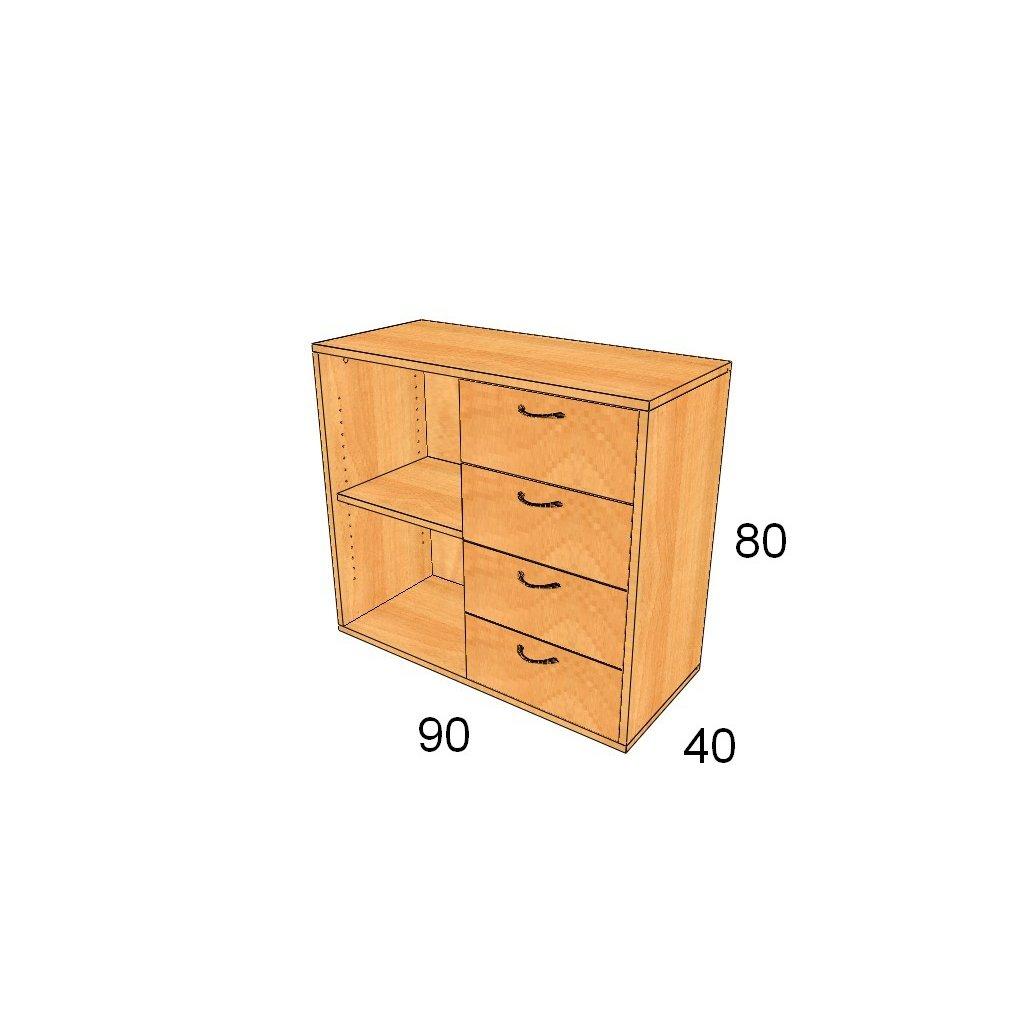 Zásuvková skříň, Art.2331