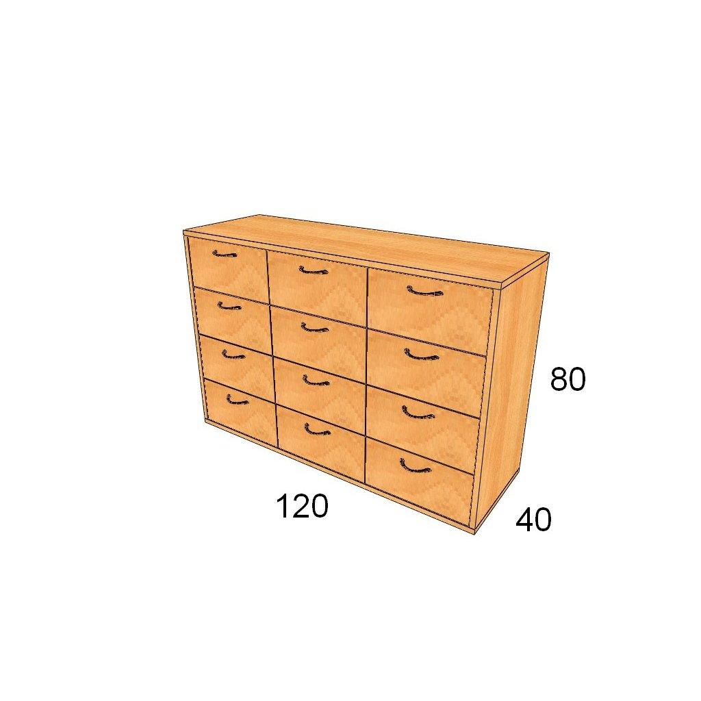 Zásuvková skříň, Art.3306