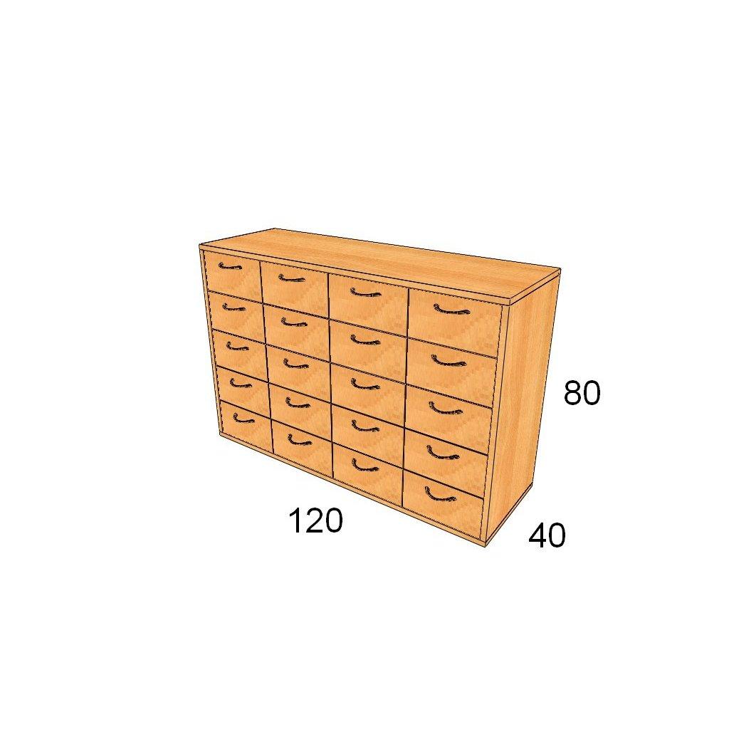 Zásuvková skříň, Art.3307
