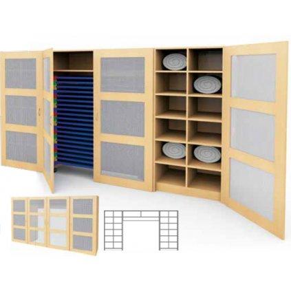 Kombinovaná skříň na ložní prádlo, Art.28520/4