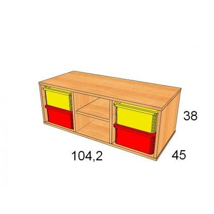 Skříň s plastovými boxy, Art. 27503/2