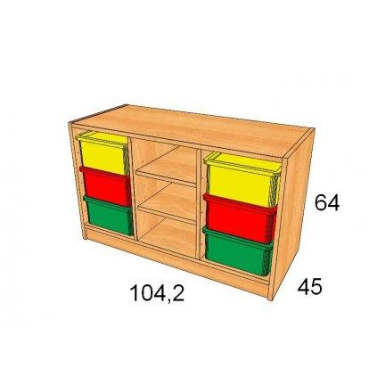 Skříň s plastovými boxy, Art. 27503/4