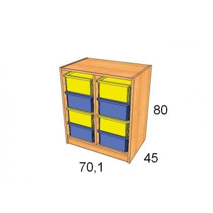 Skříň s plastovými boxy, Art. 27504/4