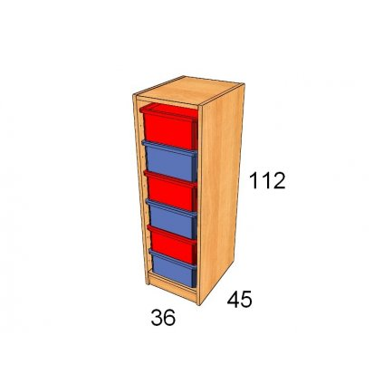 Skříň s plastovými boxy, Art. 27530