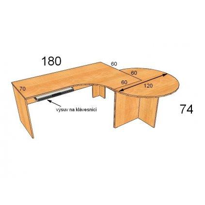 Kancelářský stůl, Art. 20099-16