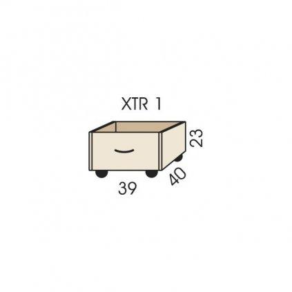 truhlik na koleckach xtr 1