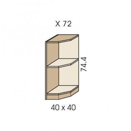 komoda rohova x 72