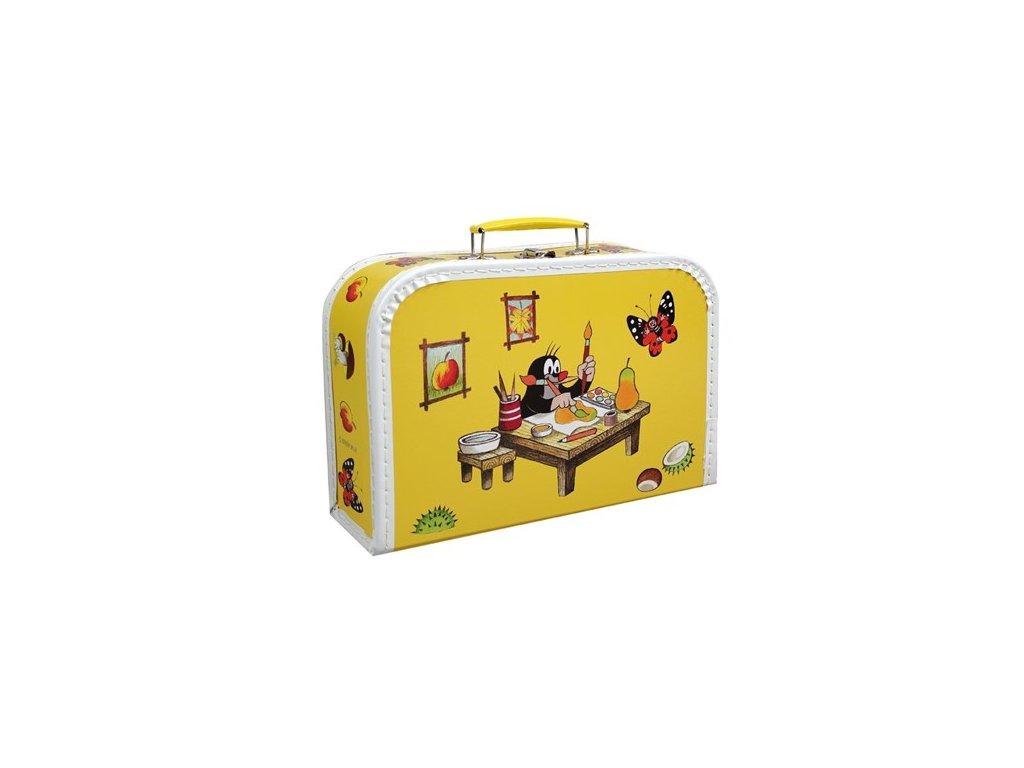 kufřík žlutý Krtek malíř