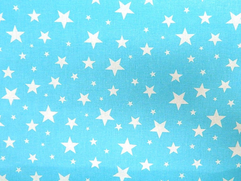 bílé hvězdy na modré jasné