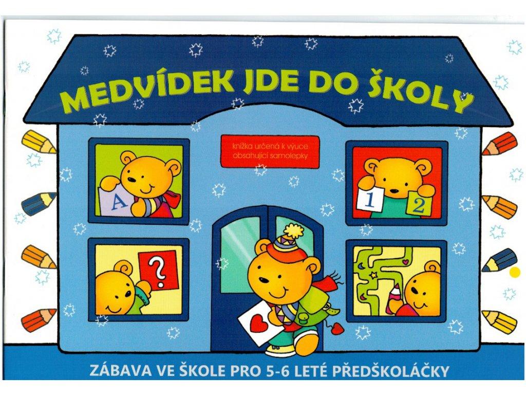 Pracovní sešit pro předškoláky, Medvídek jde do školy