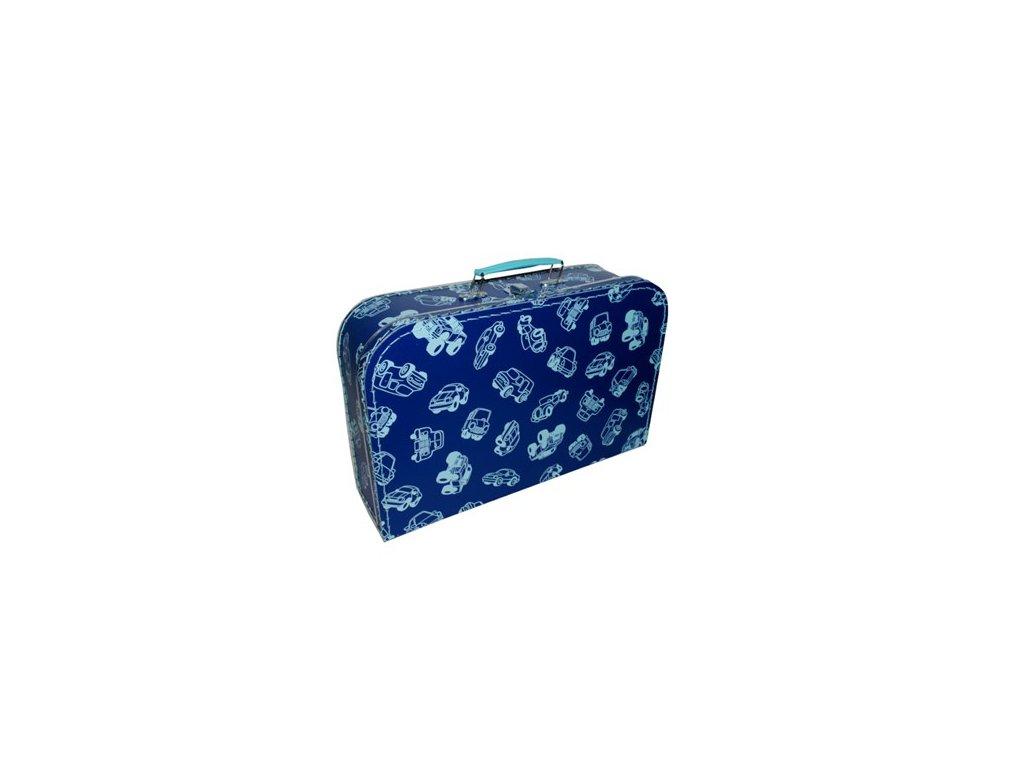 7679522 0035 9760 kufřík tmavě modrý světle modrá auta