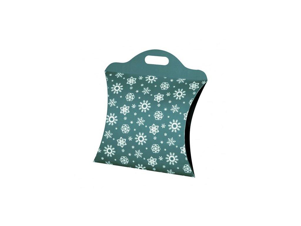 kazeto vanocni taska velka modro zelena