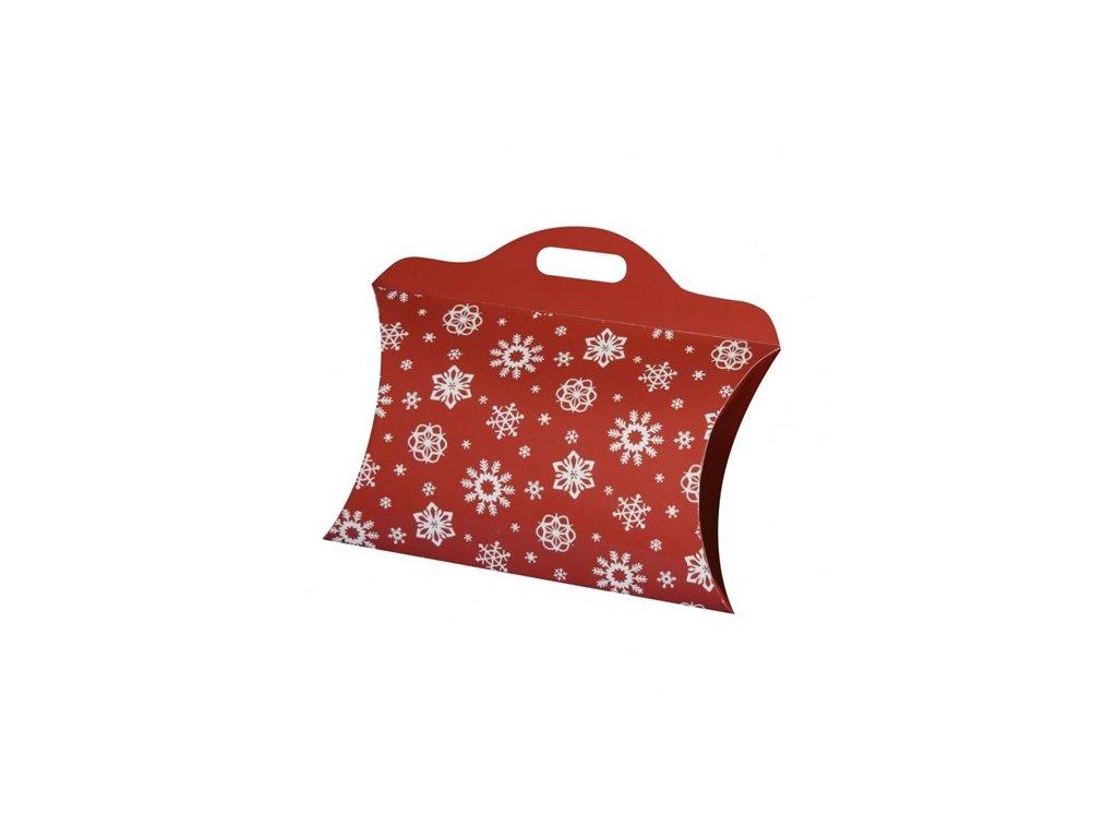 vanocni taska mala cervena