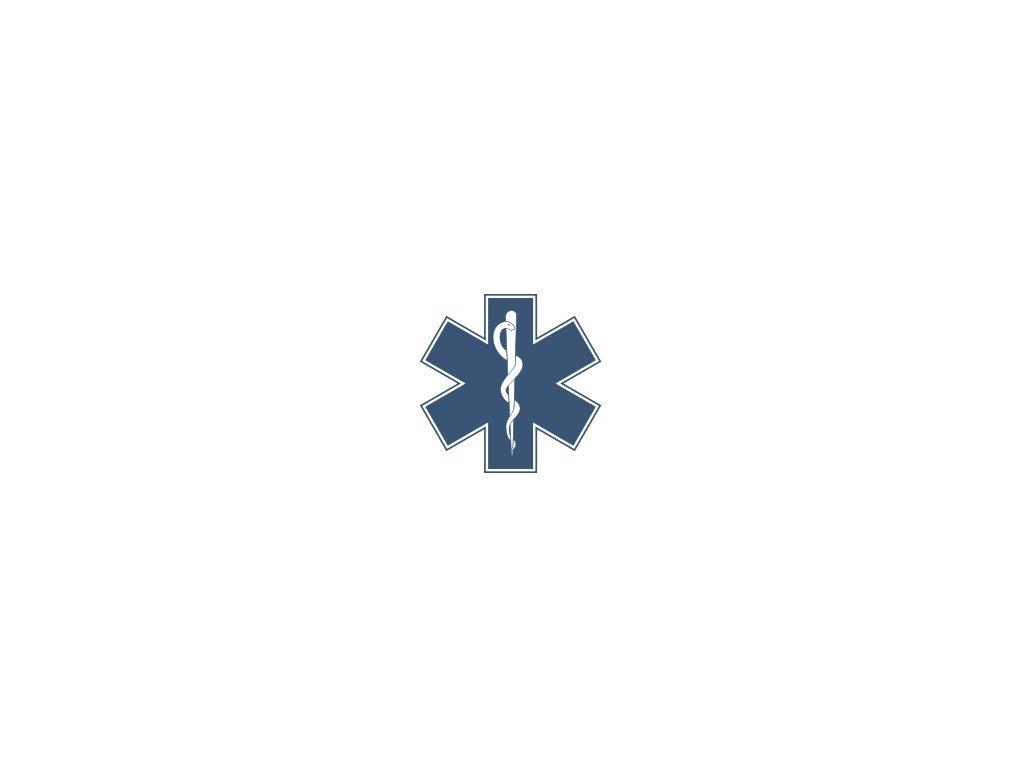 8190 modra hvezda zivota zdravotnicky znak varianta modra hvezda 10 cm na sklo