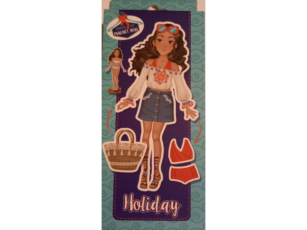 magnetická panenka na prázdninách