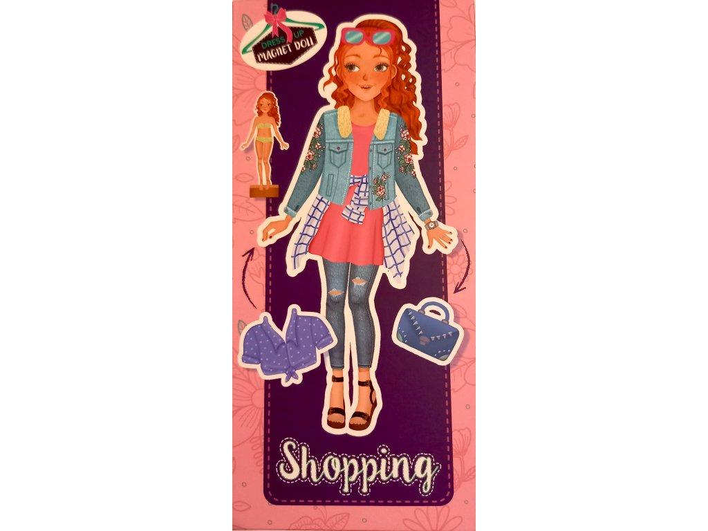 magnetická panenka na nakupování