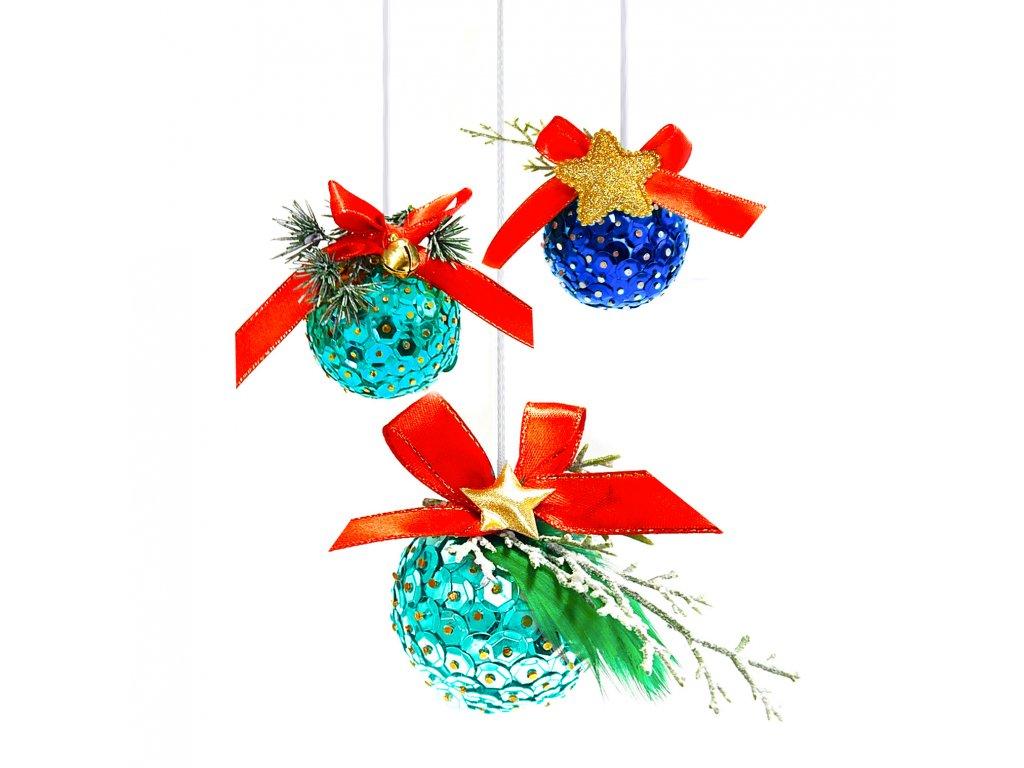 Tvořivá sada, vánoční ozdoby, set modrý 3
