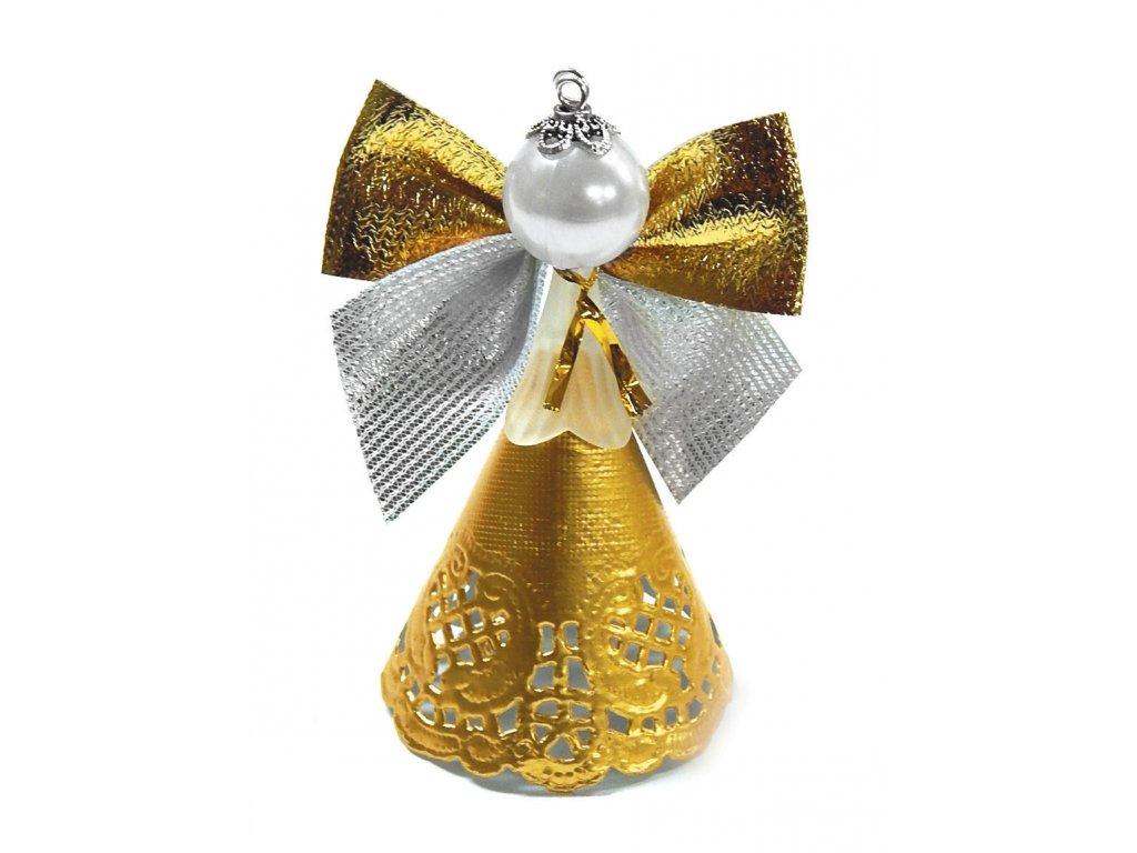 Tvořivá sada, šest andělů + ketlovací kleště, barva zlatá3