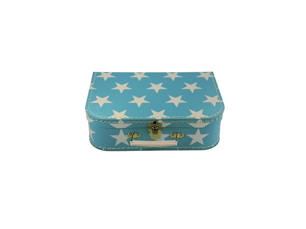 Dětský kufřík 25cm modrý bílá hvězda