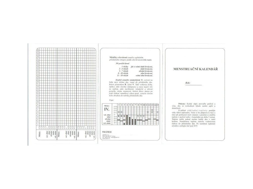 7878 menstruacni kalendar leporelo
