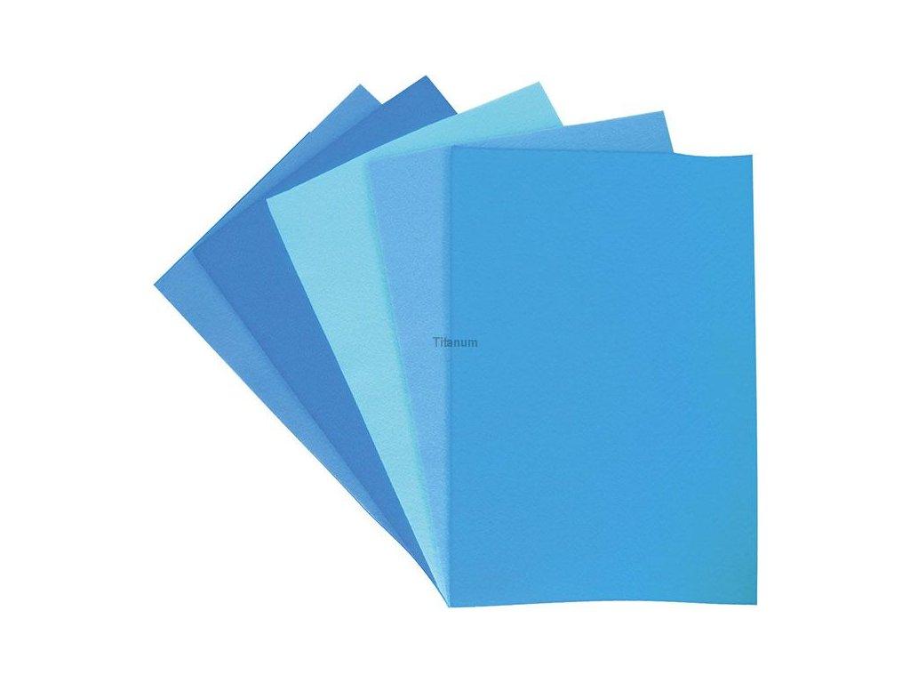 Filc, arch A4, balení 10ks, mix barev modrá