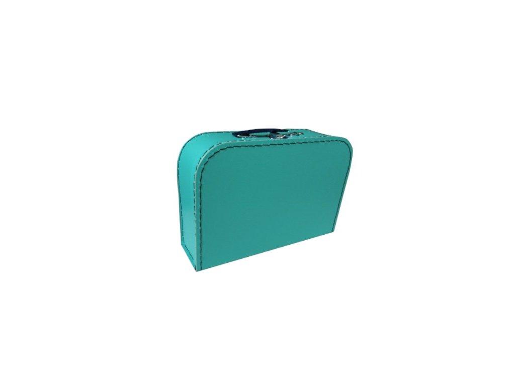 Dětský kufřík 30cm modrozelený