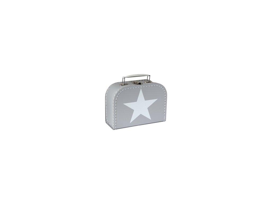kufřík šedý s hvězdou