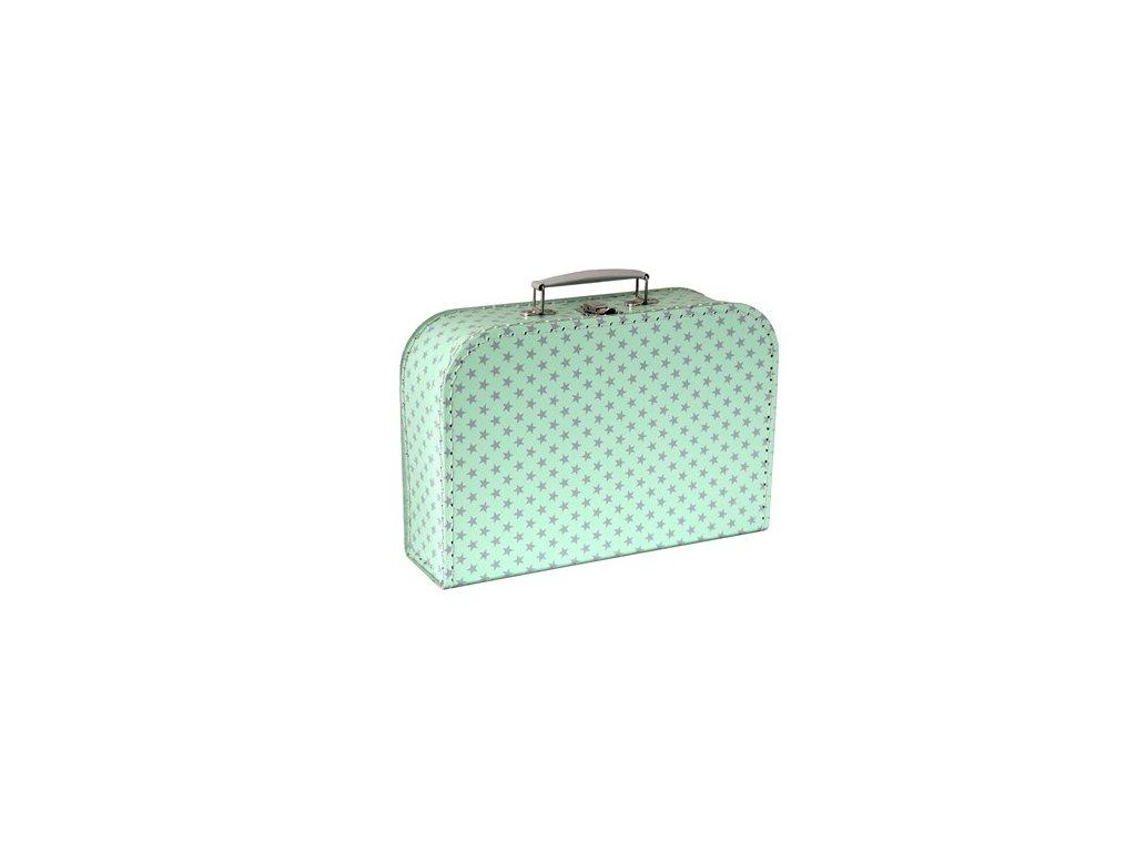 Dětský kufřík mint s hvězdami