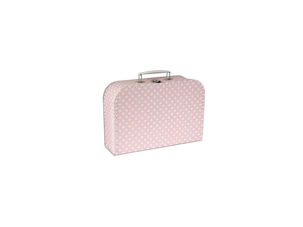 Dětský kufřík 30cm růžový s hvězdami