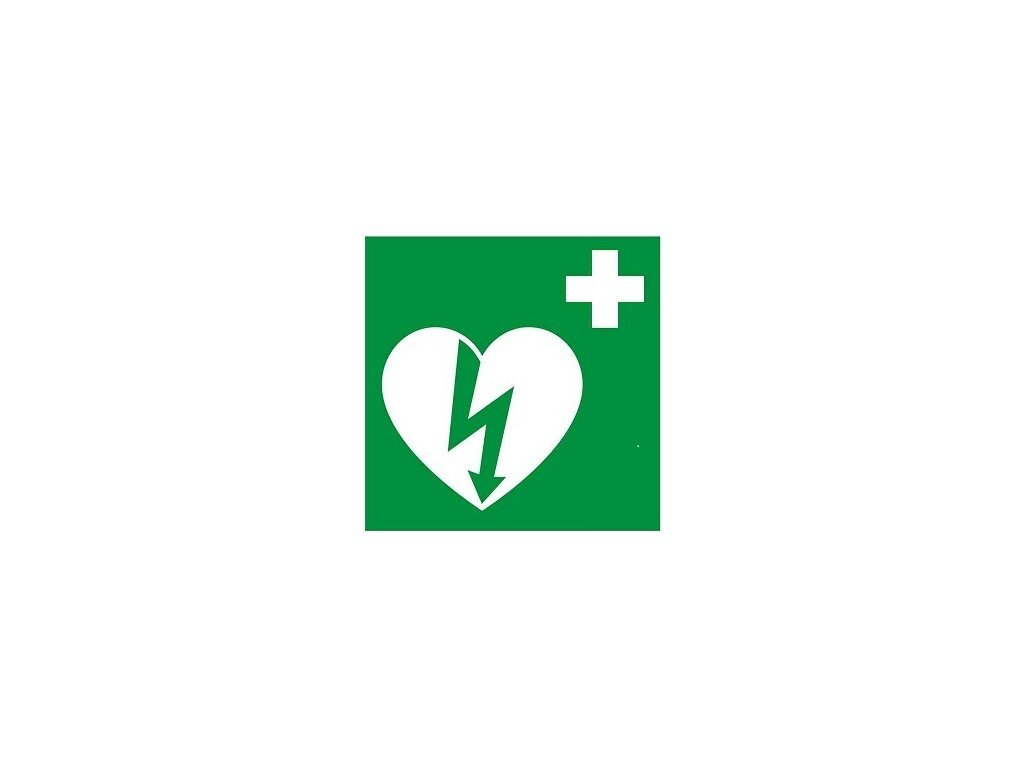 Nálepka - etiketa AED