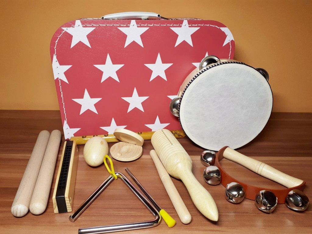 Kufřík s hudebními nástroji pro holky