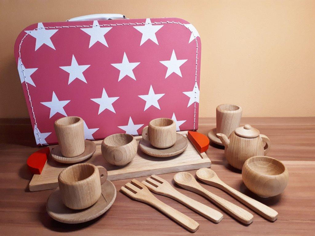Dětský čajový set v kufříku pro holky