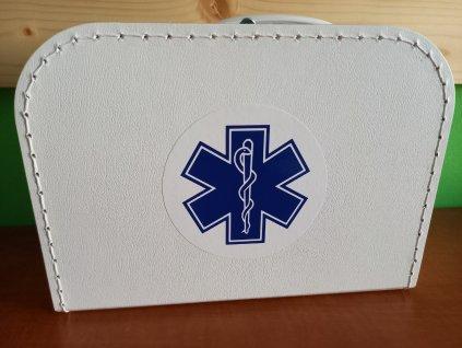 Dětský kufřík 25cm bílý s logem Modrá hvězda života