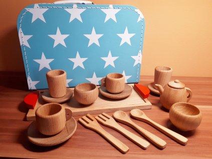 Dětský čajový set v kufříku pro kluky