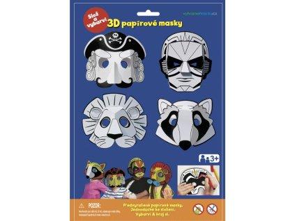 Karnevalové masky, Pirát , superhrdina, lev, mýval