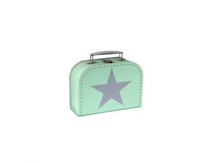 Dětský kufřík mint s hvězdou