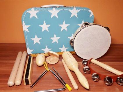 Kufřík s hudebními nástroji pro kluky