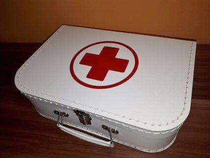 Dětský kufřík 30cm bílý s červeným křížem