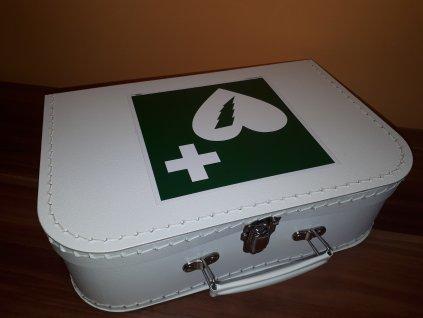 Dětský kufřík 30cm bílý s logem AED