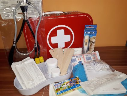 Doktorský kufřík vybavený s atrapou stetoskopu