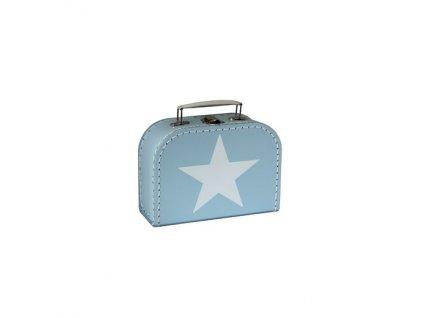 Dětský kufřík 20cm modrý s hvězdou