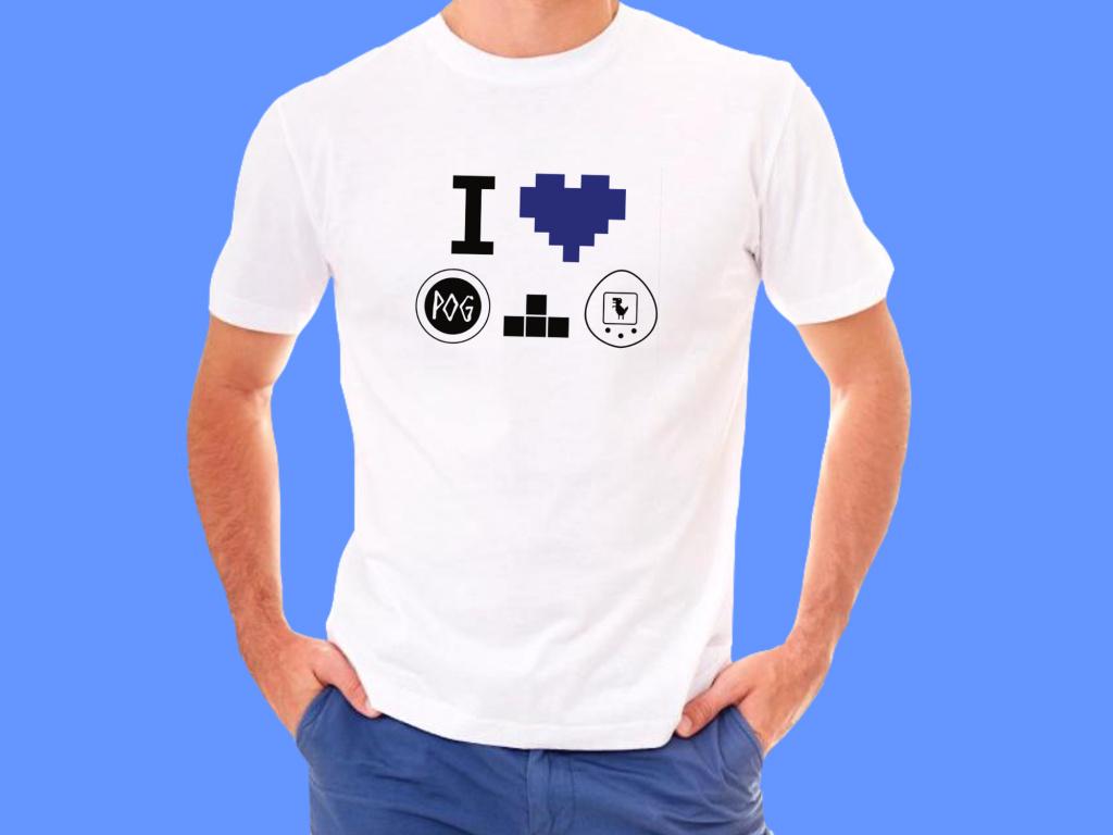 Retroherní tričko  Pánské