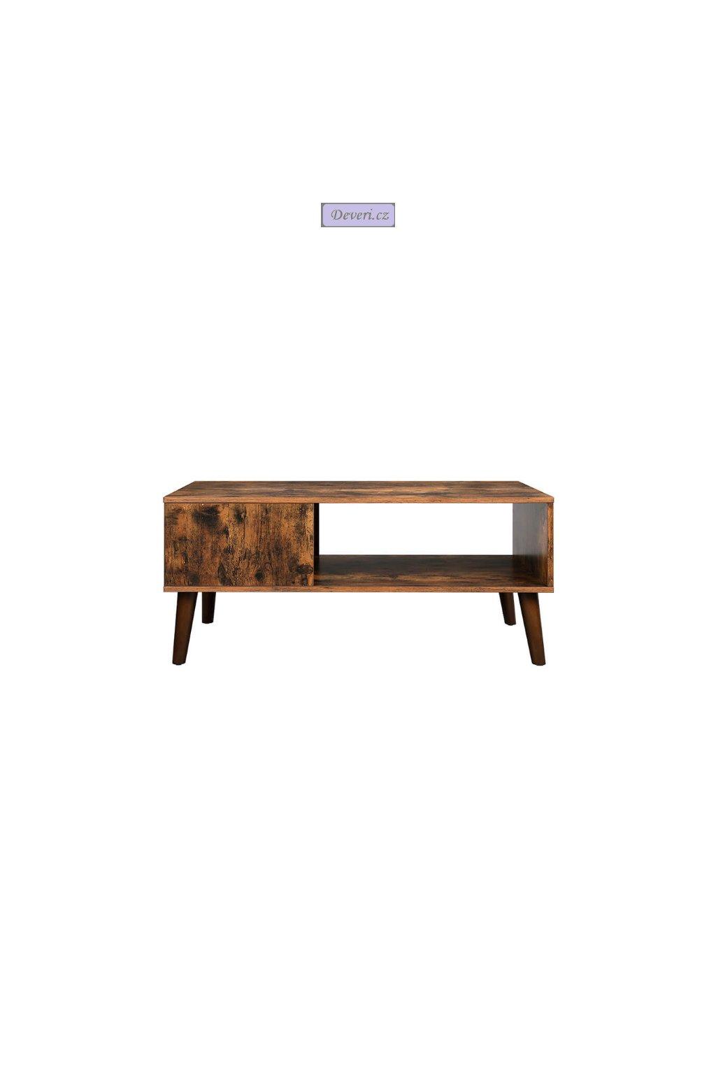 Retro konferenční stolek 100x50x45 cm hnědý