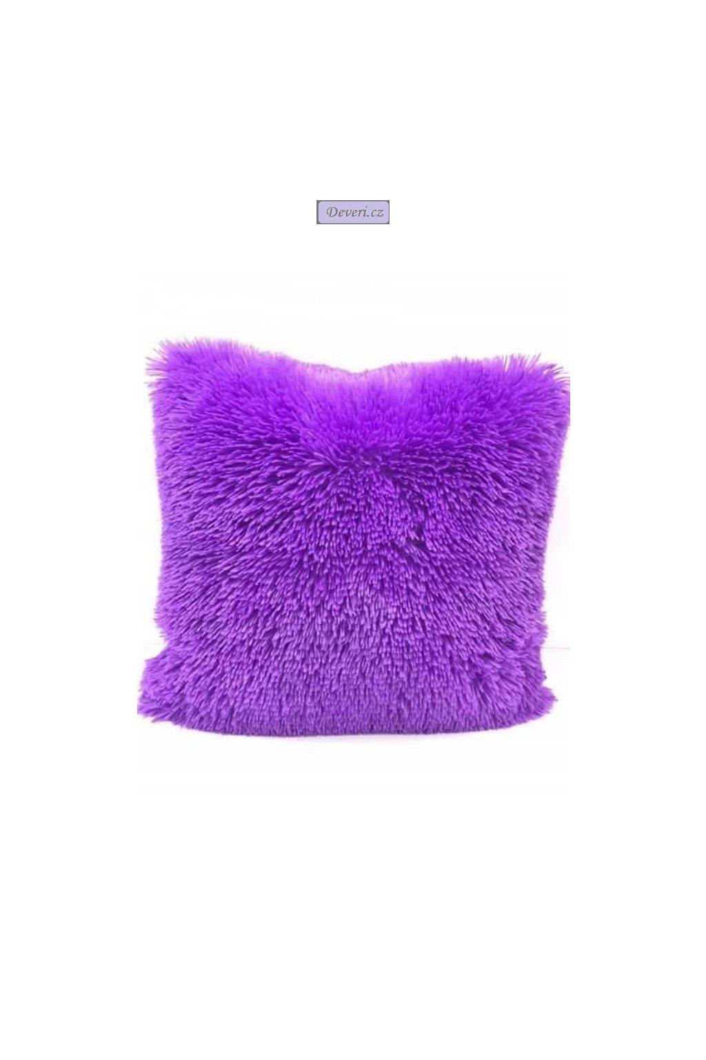 Plyšový povlak na polštář fialový